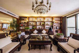 大户型中式风格装修沙发墙设计