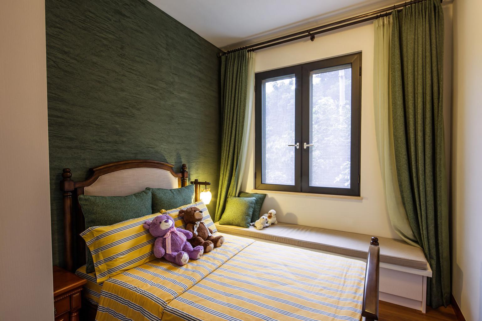 大户型中式风格装修卧室设计图