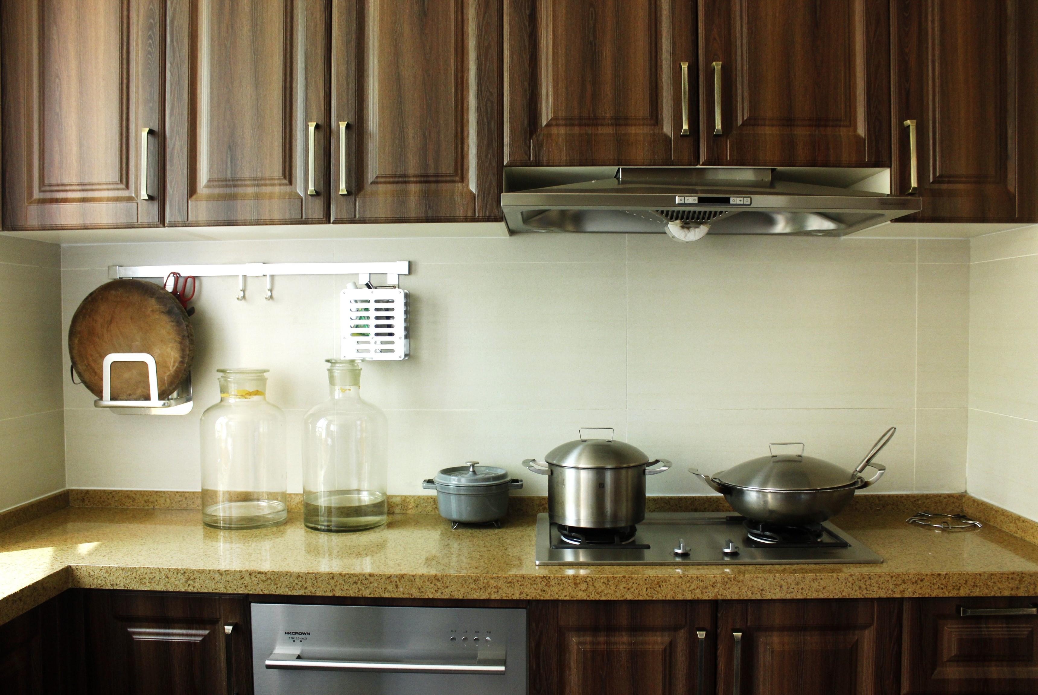 大户型中式风格装修厨房图片