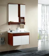 华艺卫浴 FA106AA30实木 80公分 浴室柜  含龙头(KX16428C)