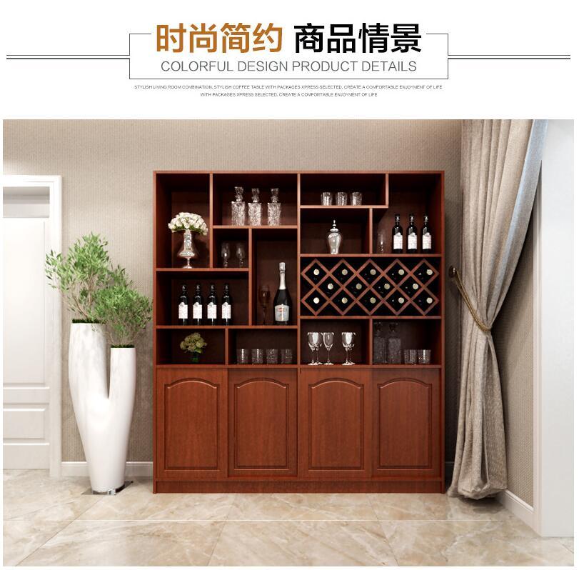 简约现代/简约欧式风格酒柜书柜定制板式酒柜欧式四门