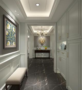 美式风格大户型装修玄关设计