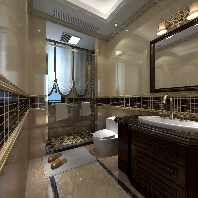 欧式别墅装修卫生间效果图