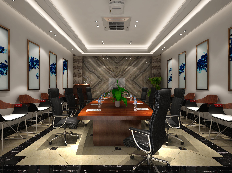 大理石展厅装修会议室效果图