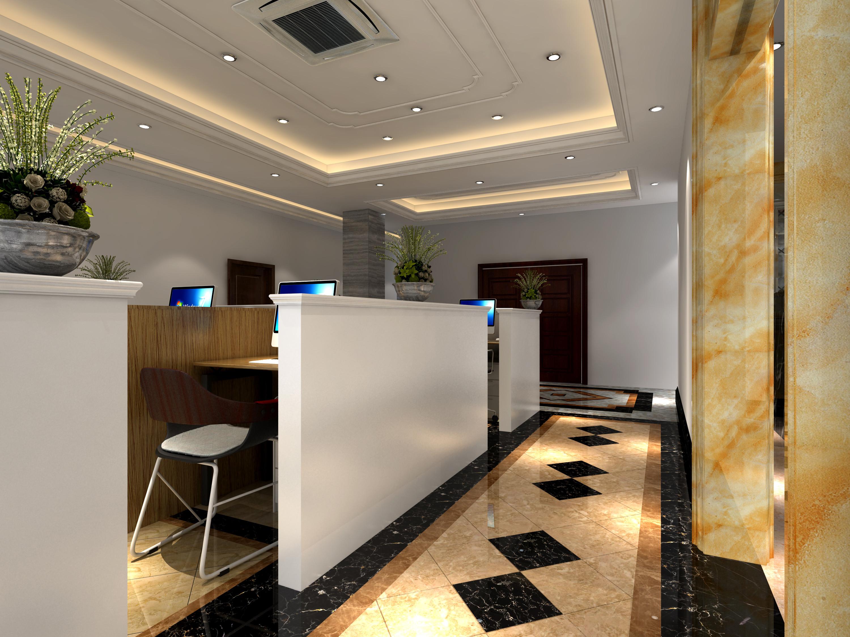 大理石展厅装修公共办公厅