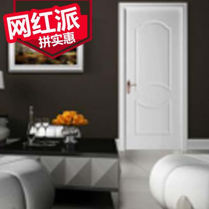 <百家旺木门>实木复合烤漆k104白色