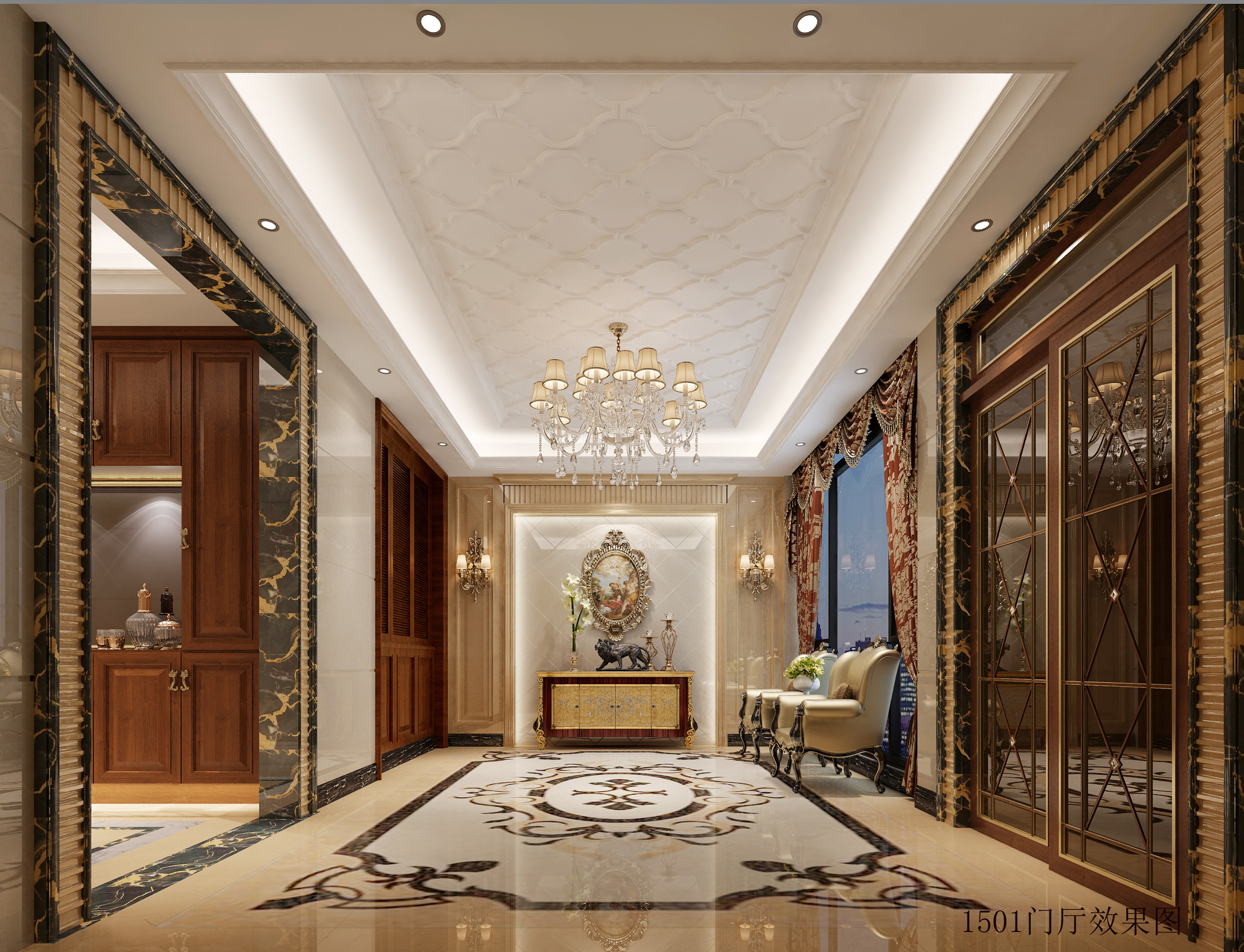 大户型欧式装修门厅效果图