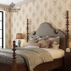 领绣欧式原创印花布刺绣环保墙布定制 珠联璧合