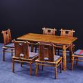 歐陽紅全紅木餐桌刺猬紫檀1.5M一桌四椅五件套