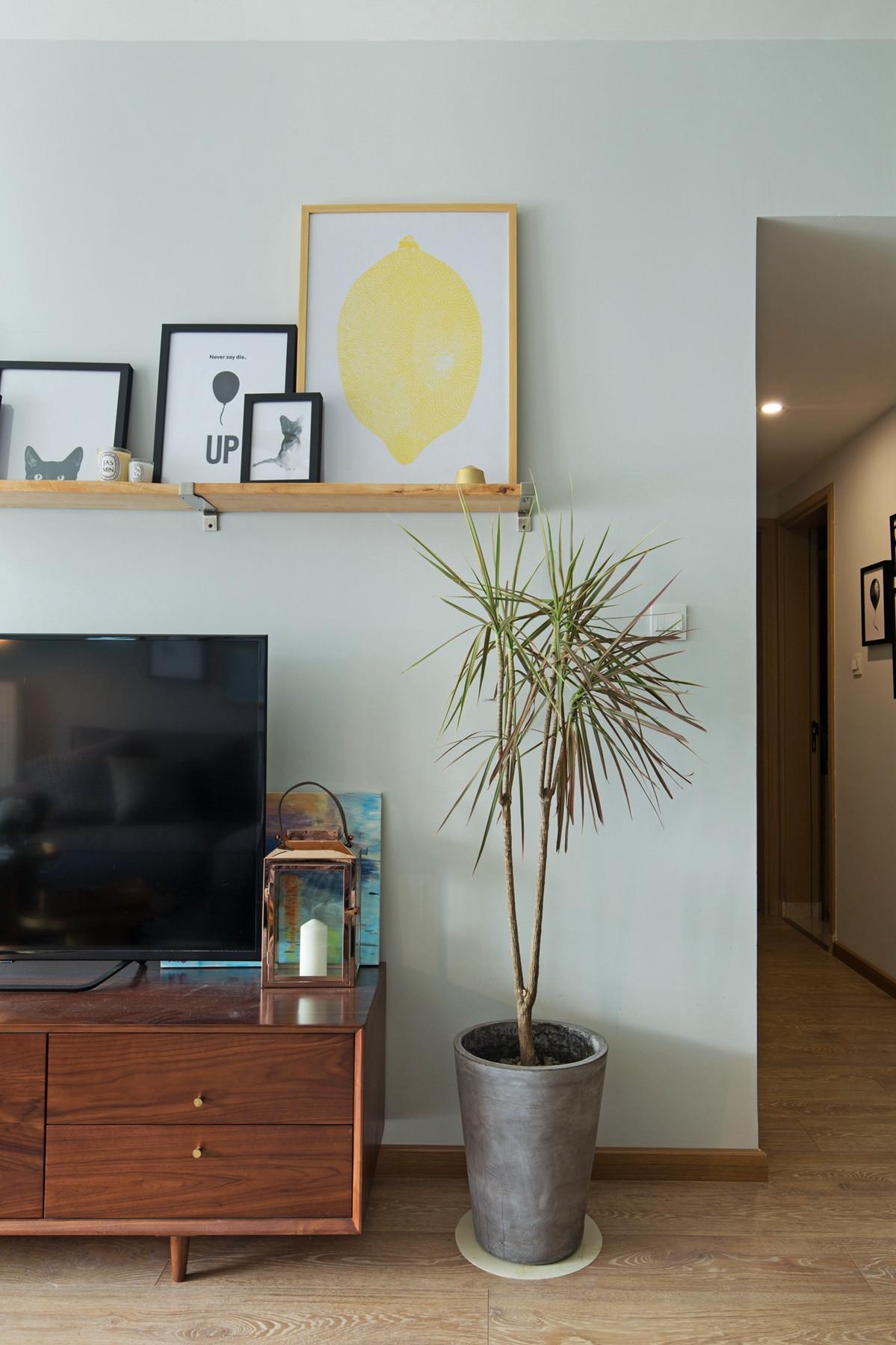 二居室北欧风格家电视背景墙设计