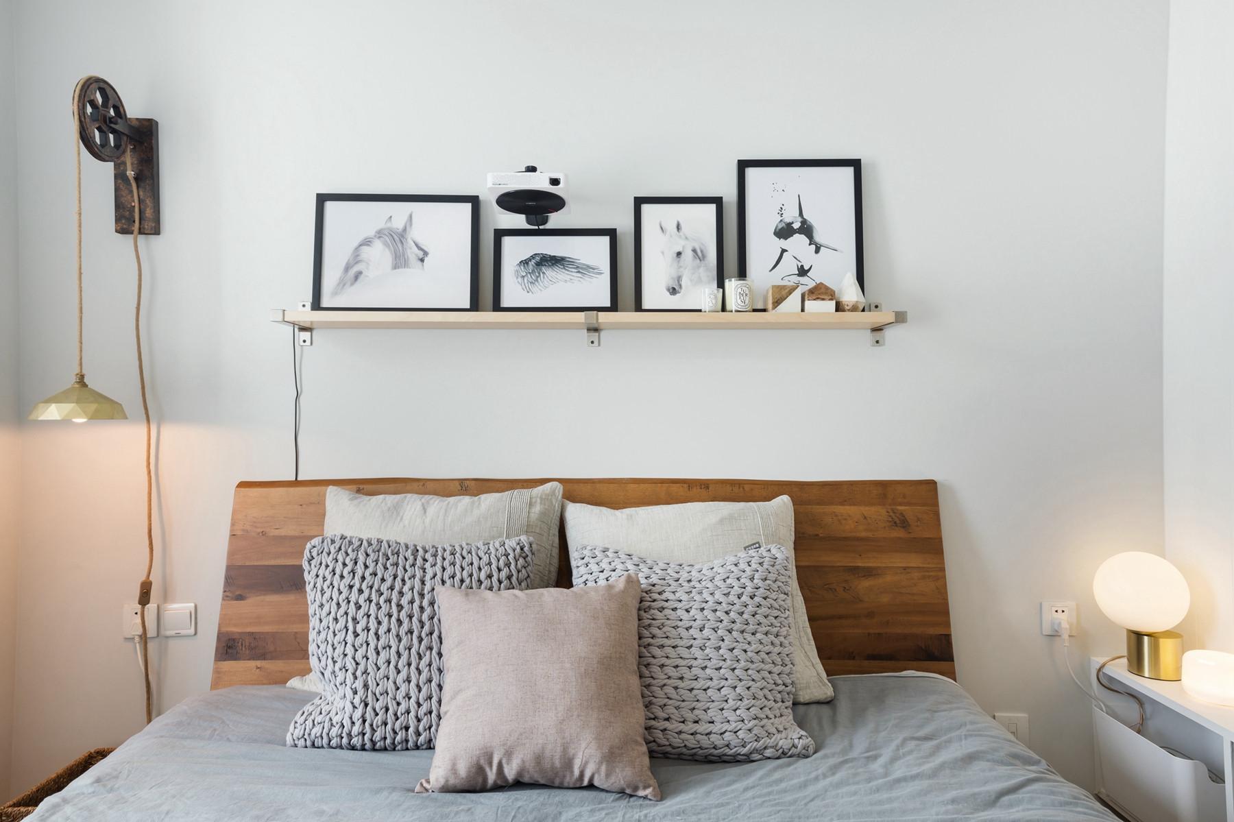 二居室北欧风格家床头墙设计