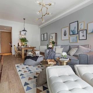 二居室北欧风格家 充盈而温暖