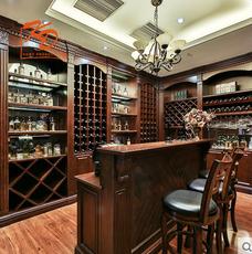 kd凯蒂实木酒柜定制欧式家用整体定制酒柜门现代定做实木餐厅酒柜