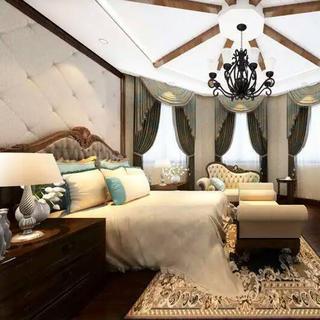 150㎡现代简欧风装修卧室搭配图