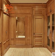 KD凯蒂整体衣柜定做实木卧室平开门简易衣橱衣柜组装实木衣柜定制