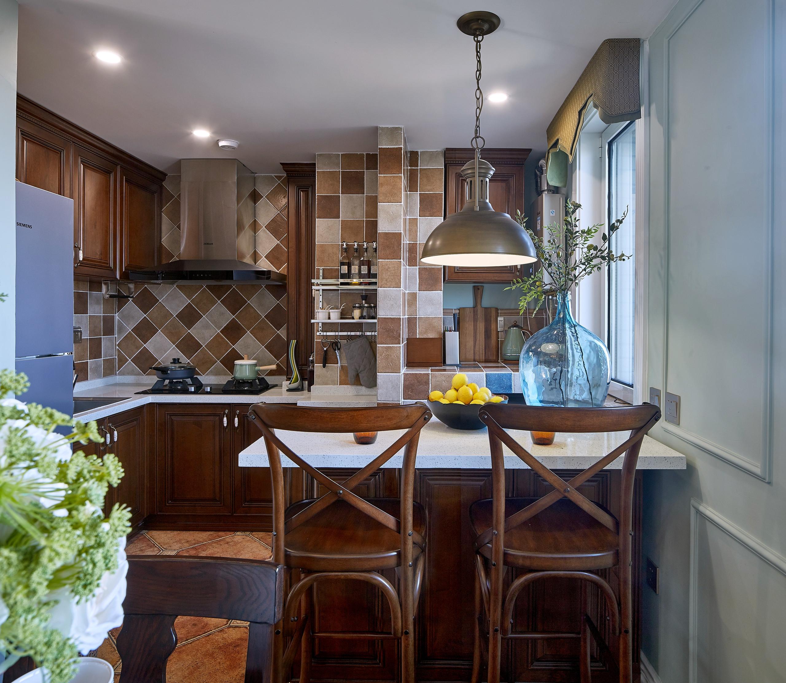 美式二居装修厨房设计图