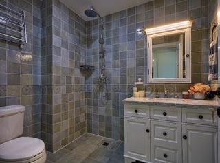 美式二居装修卫生间效果图