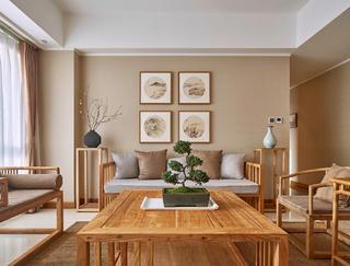 150㎡中式装修沙发背景墙图片