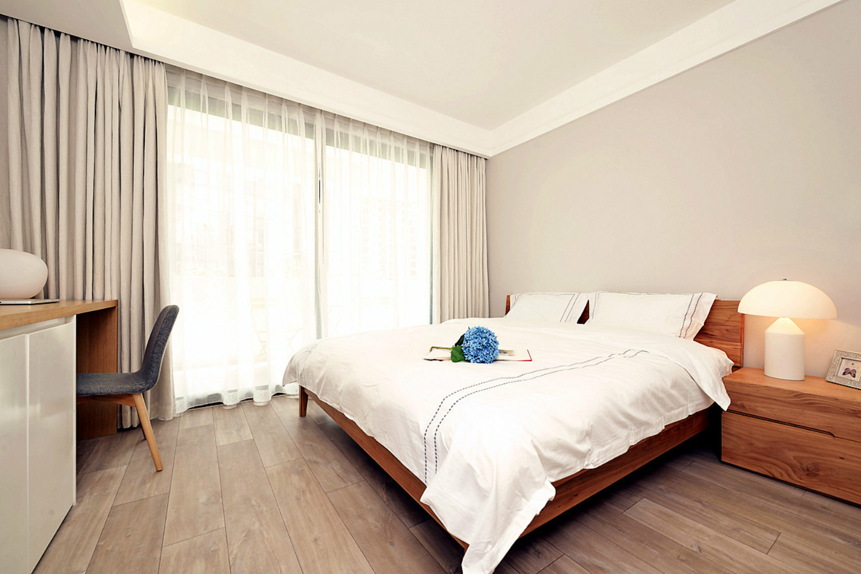 北欧风格三居室装修主卧设计图