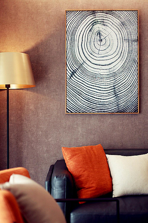 三居室简约风格家装饰画图片