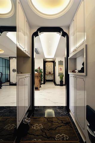 中式风格三居装修玄关设计