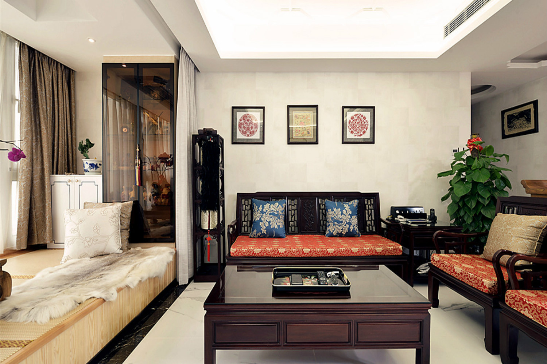 中式风格三居装修客厅搭配图