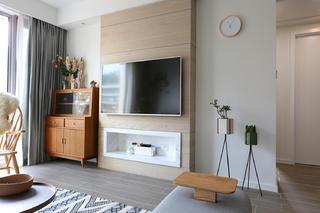 89平北欧风之家电视背景墙图片