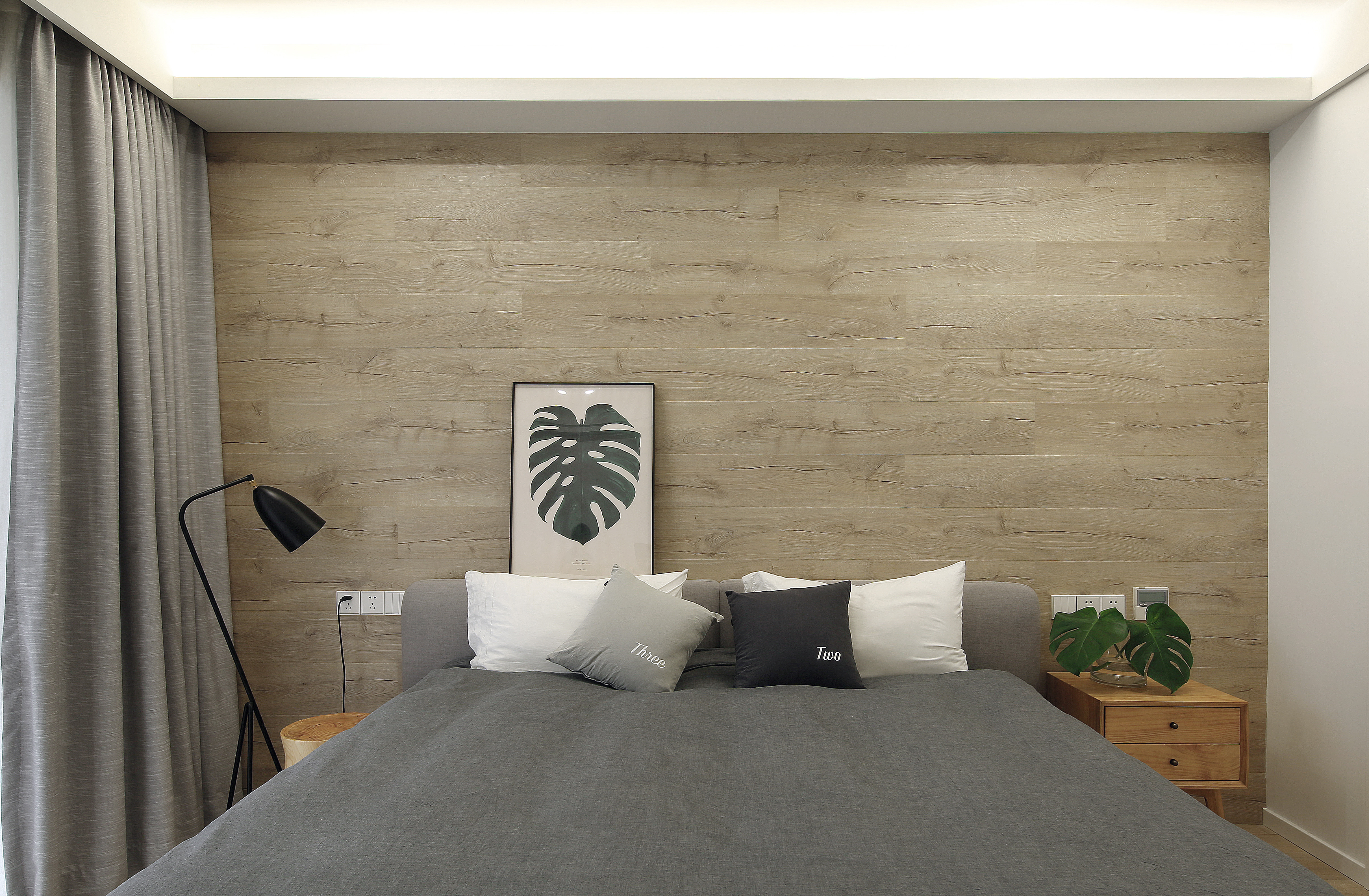 北欧复式装修床头墙设计