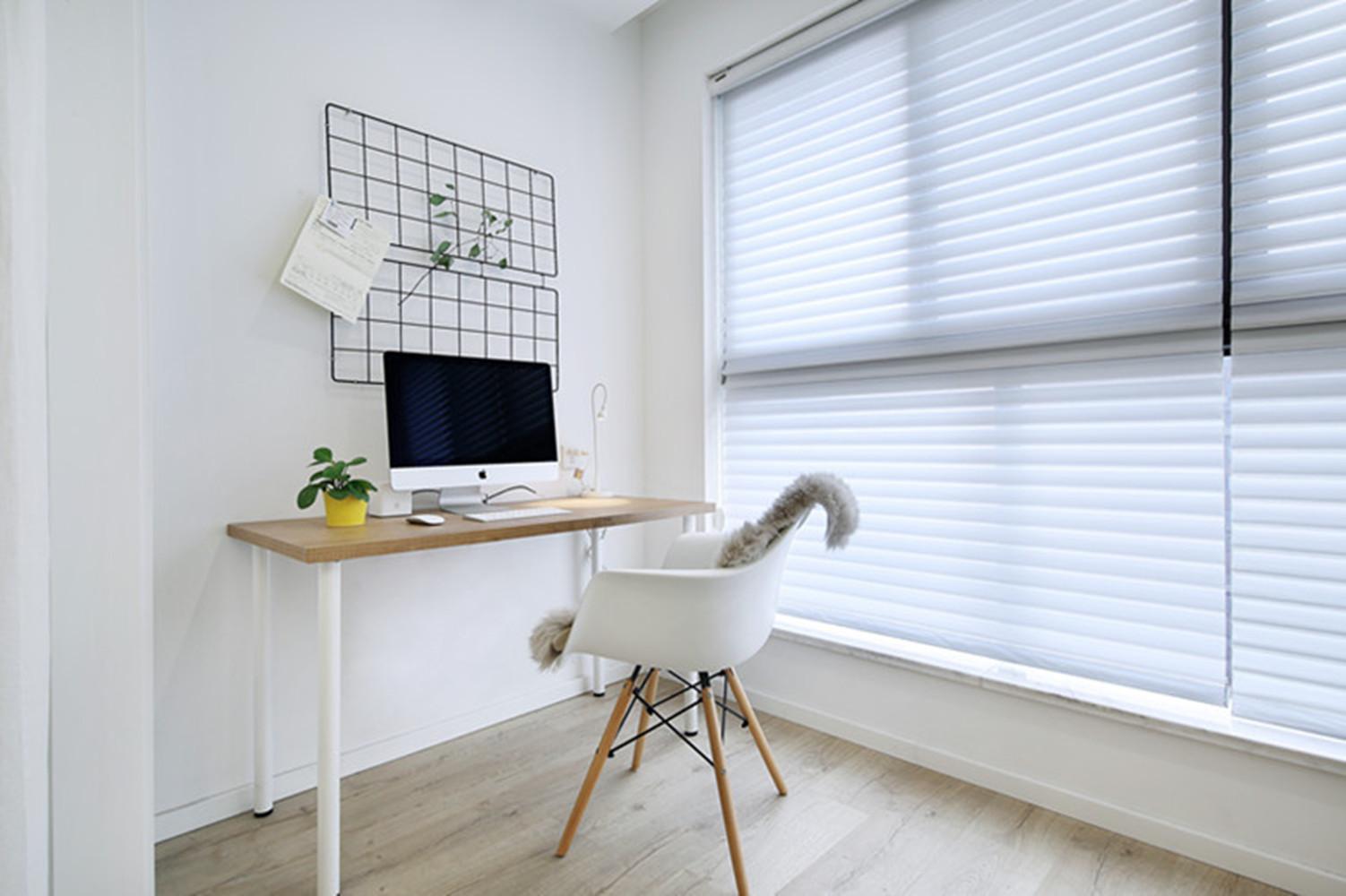 北欧复式装修卧室工作区