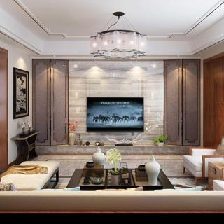 新中式豪华别墅装修效果图