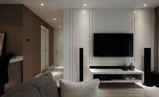 89平现代简约风格装修电视背景墙图片
