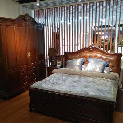 居美印尚 欧式风格 柚木卧房四件套