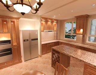 110平欧式装修厨房效果图
