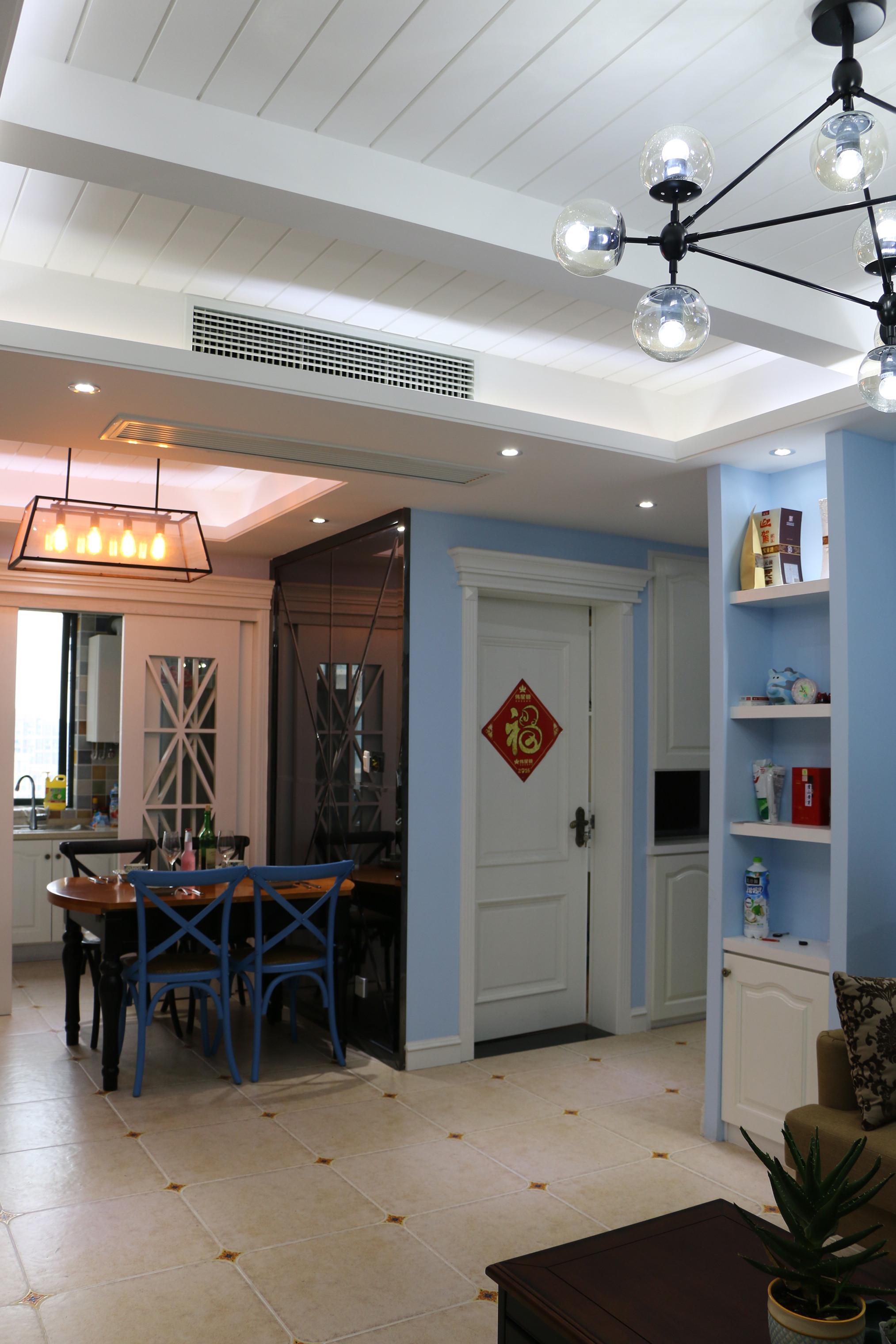 80平美式风装修走廊图片