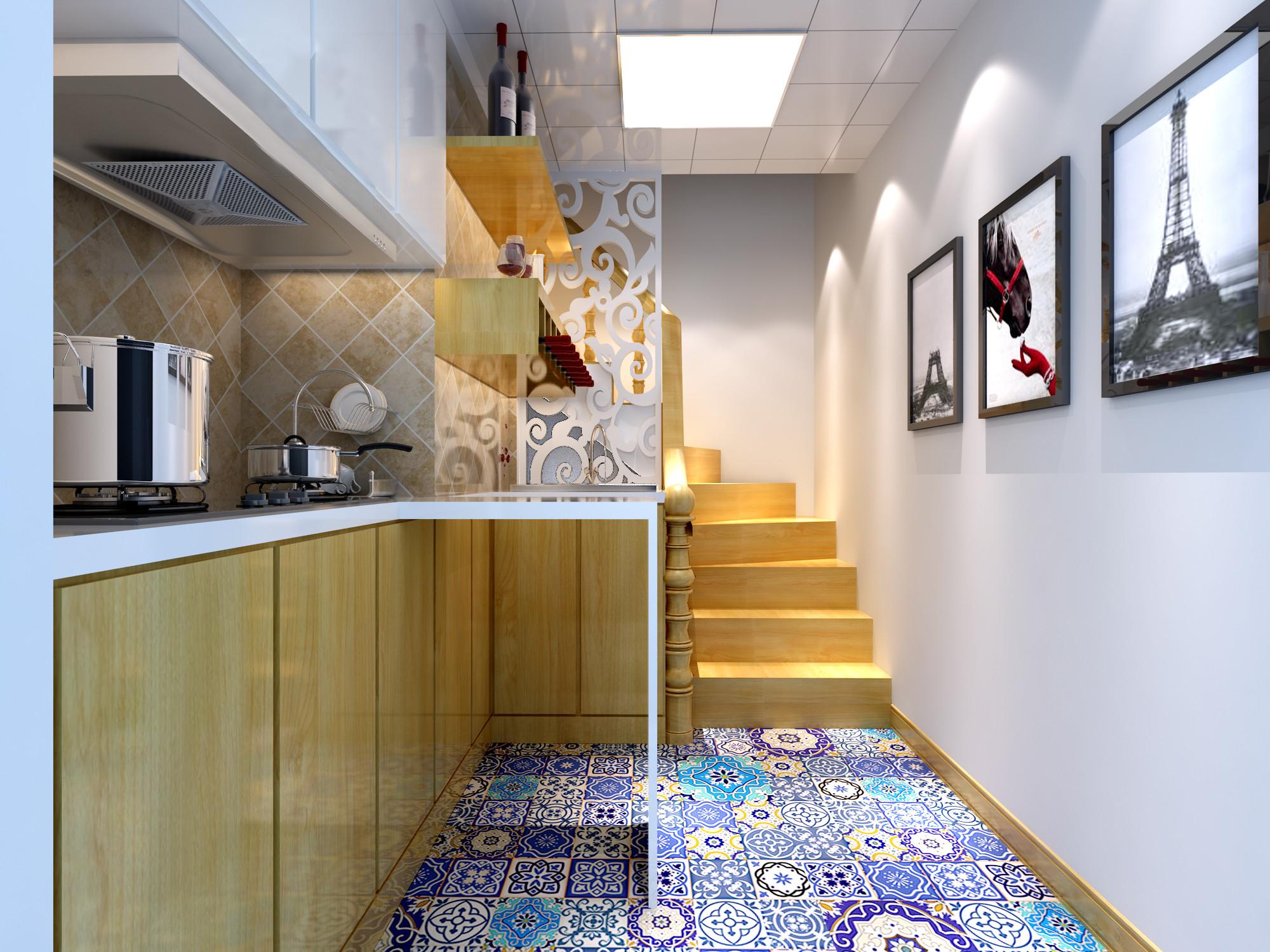 80平小别墅装修厨房效果图