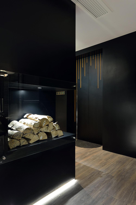 黑白极简装修餐边柜图片