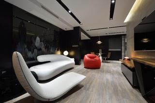 黑白极简装修客厅效果图