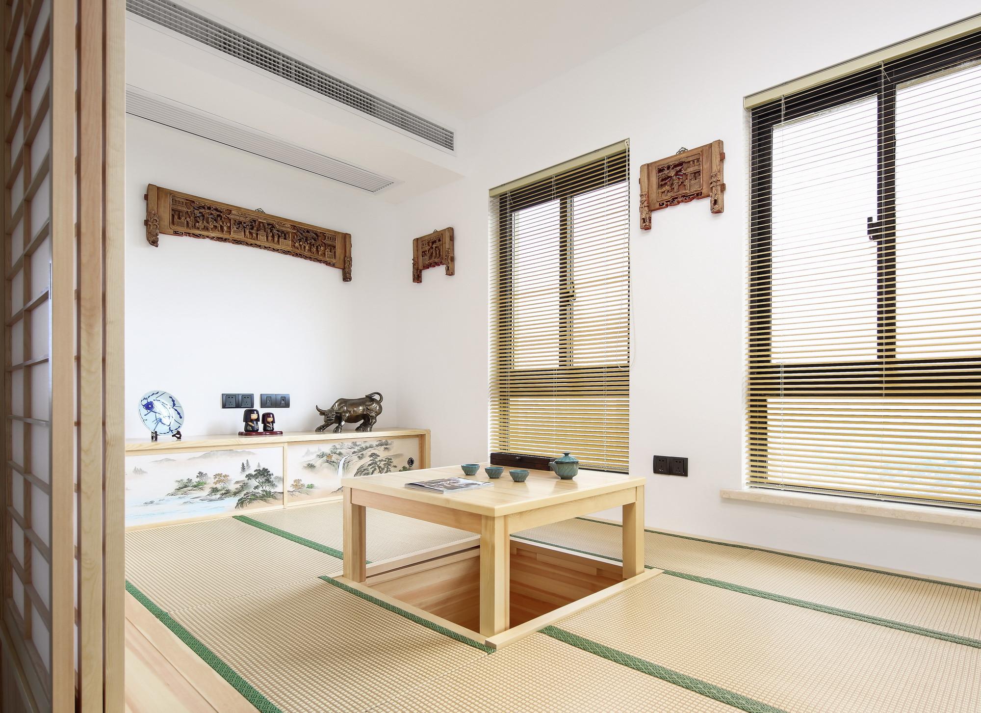 现代中式复式装修茶室效果图