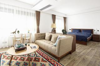 现代中式复式装修卧室休闲区