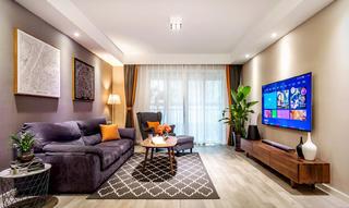 三居室简约风格家客厅设计图