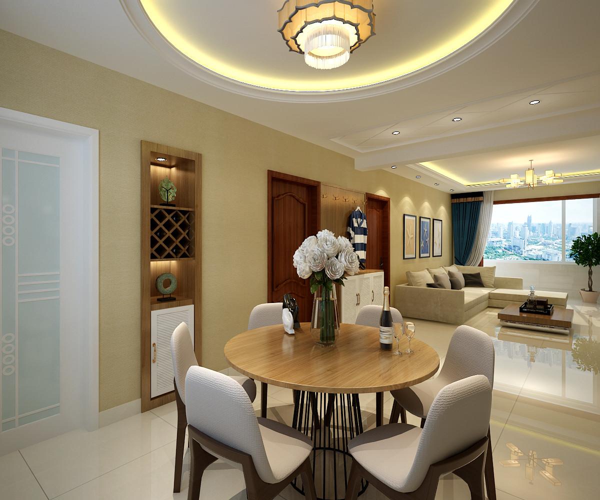 简约三居装修餐厅酒柜设计