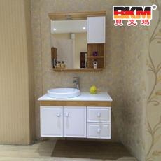 贝克玛卫浴 实木浴室柜 BKM-YSG1310-90 洗脸台 洗脸槽斗