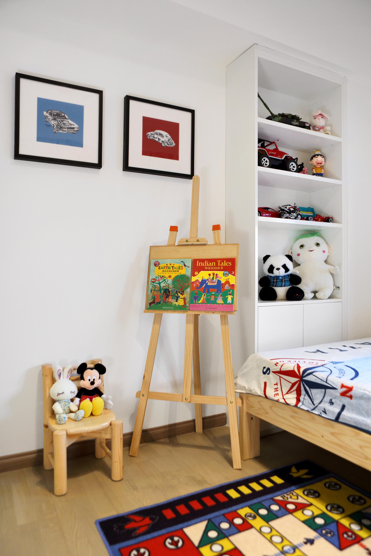 北欧三居装修儿童画板图片