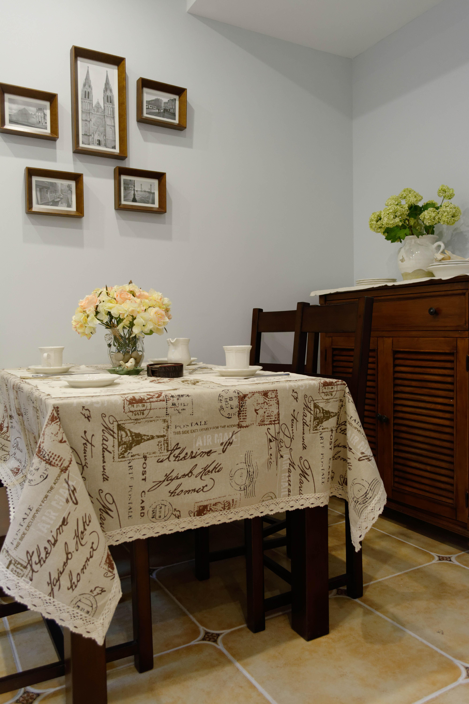 105平美式风格装修餐边柜图片