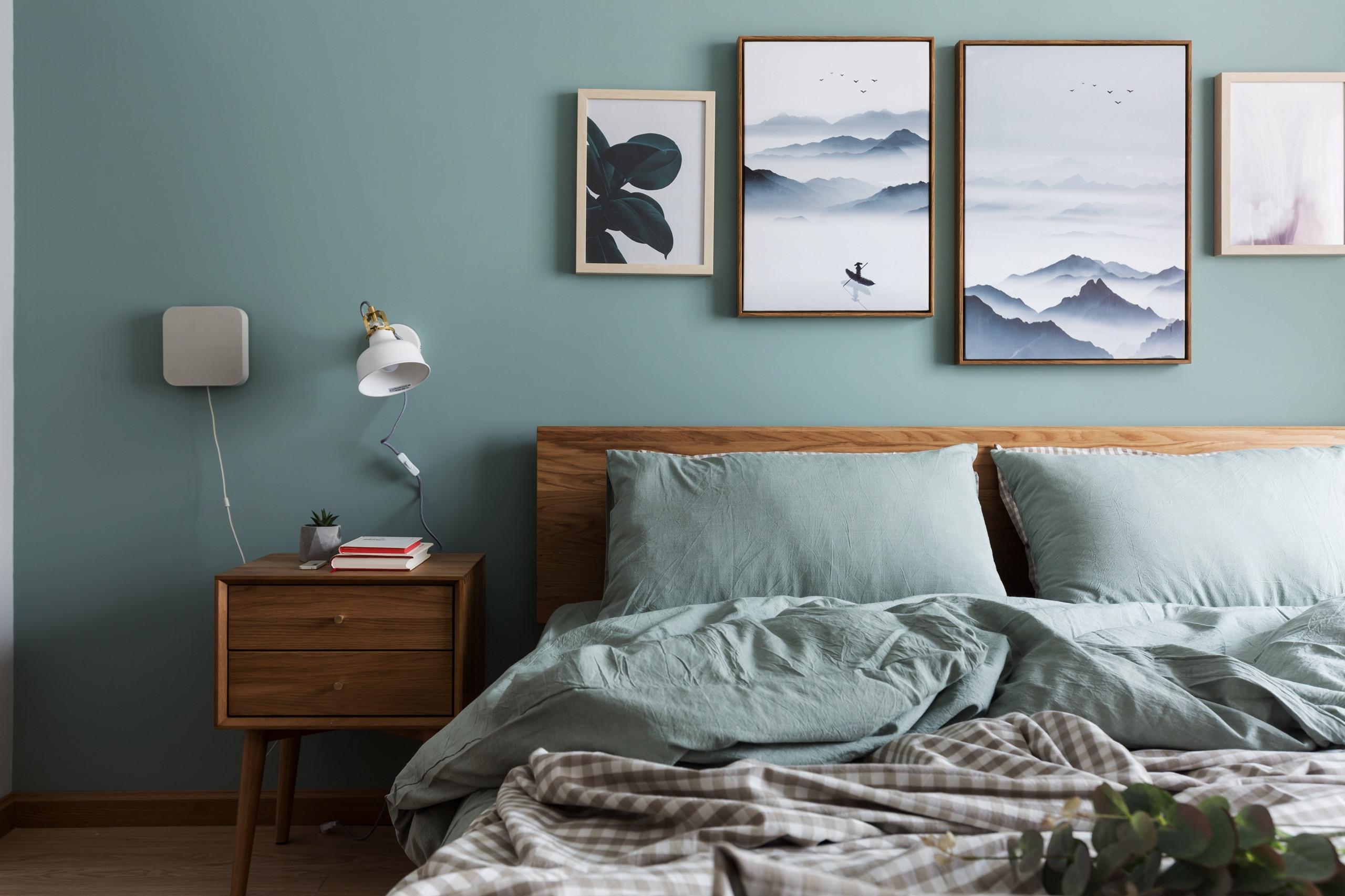小户型北欧风格家床头背景墙图片