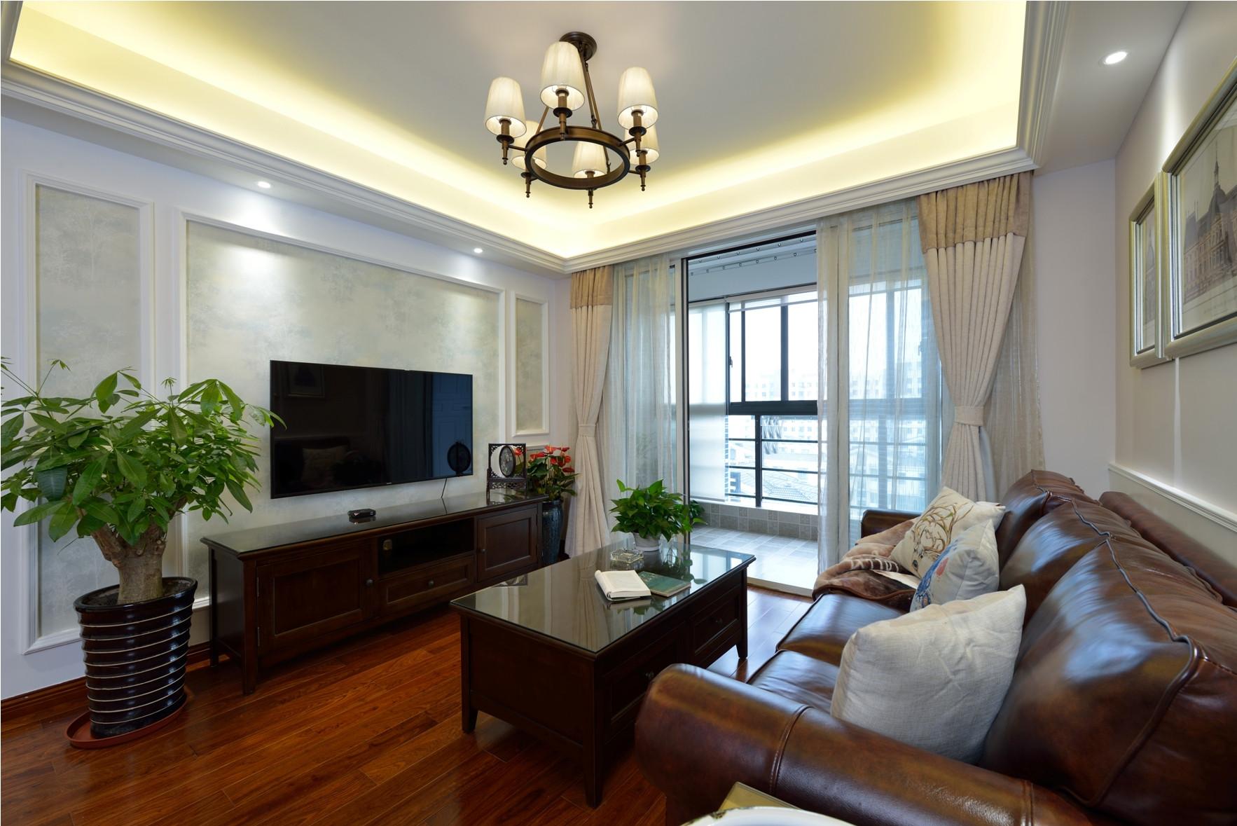 二居室美式之家电视墙图片