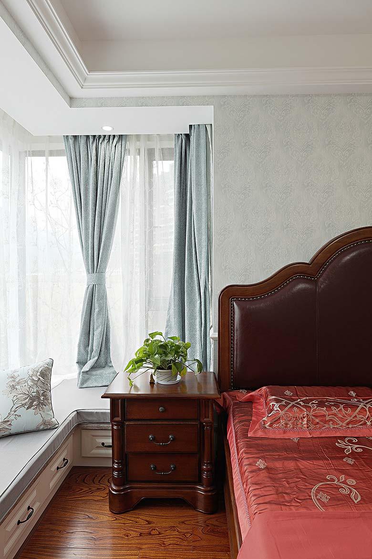 简美客厅窗帘效果图