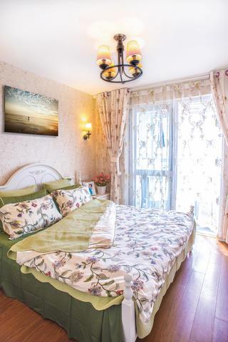 复式田园风格家床上用品图片