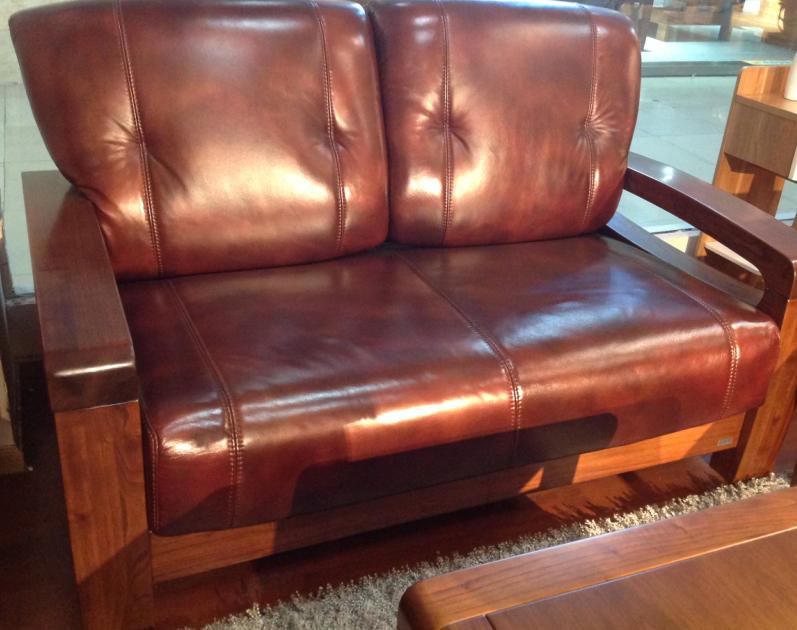 真皮实木沙发