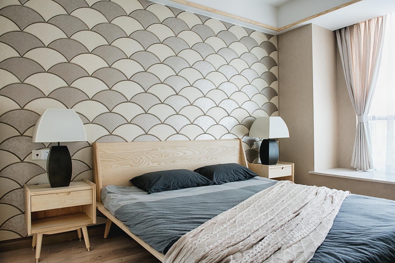 日式三居装修主卧效果图